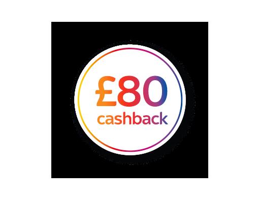 Get £80 cashback