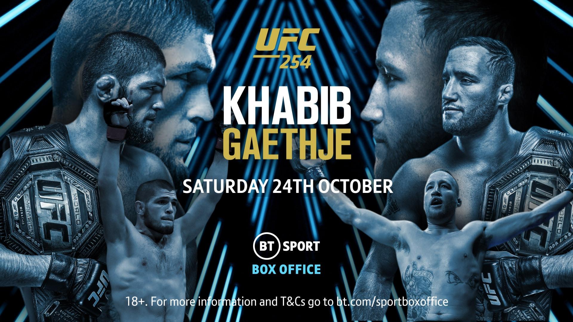UFC 254: Khabib v Gaethje on BT Sport Box Office
