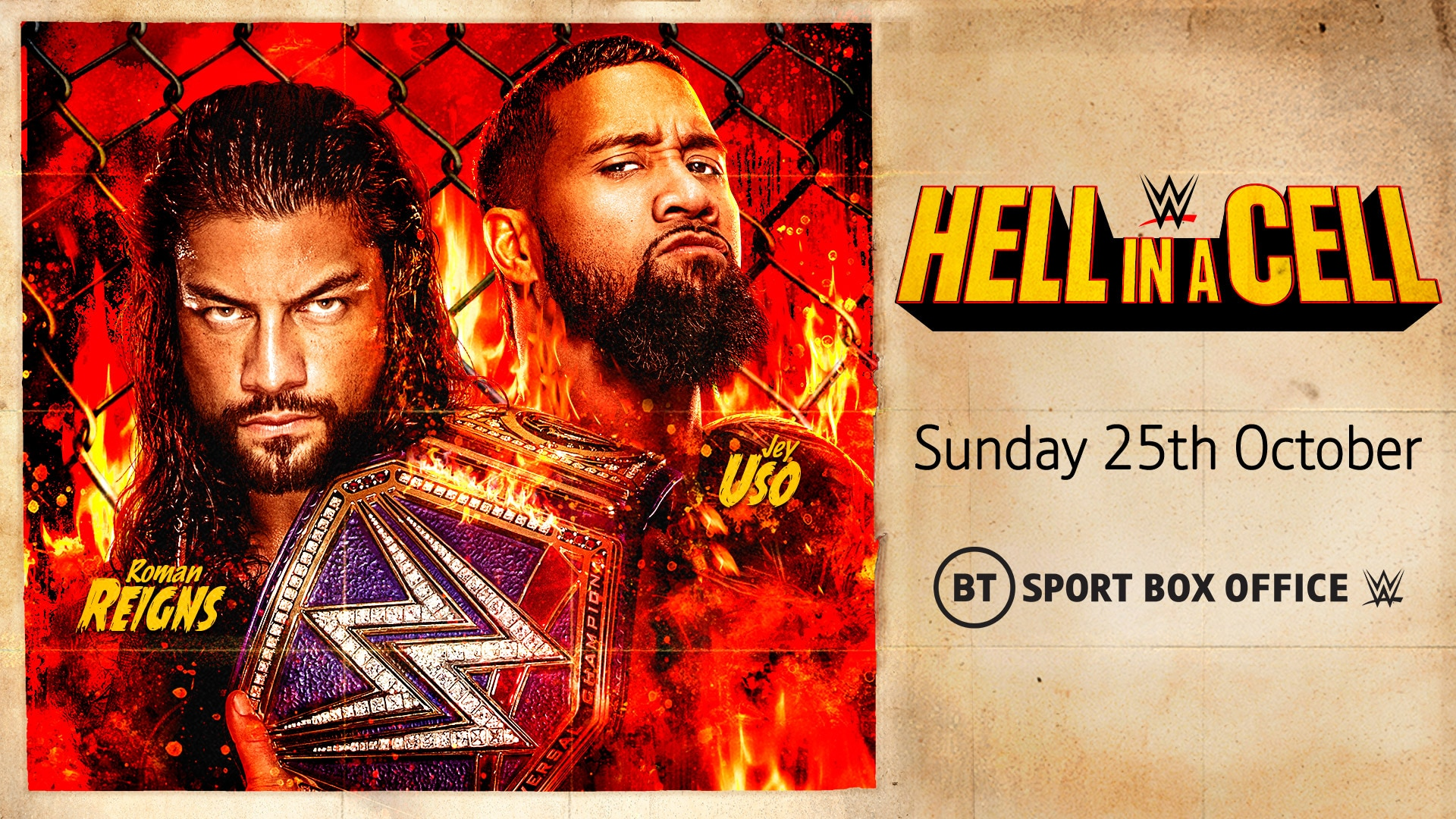 Watch WWE Hell In A Cell on BT Sport Box Office
