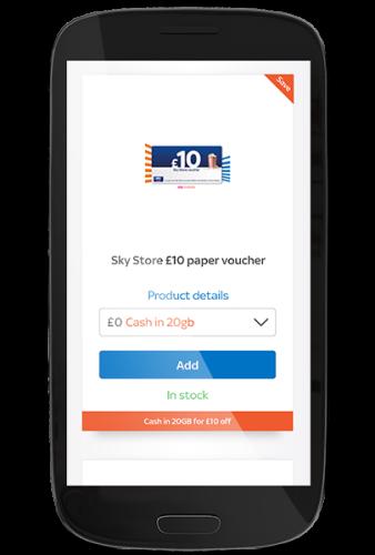 Piggybank rewards Sky Store voucher in Shop