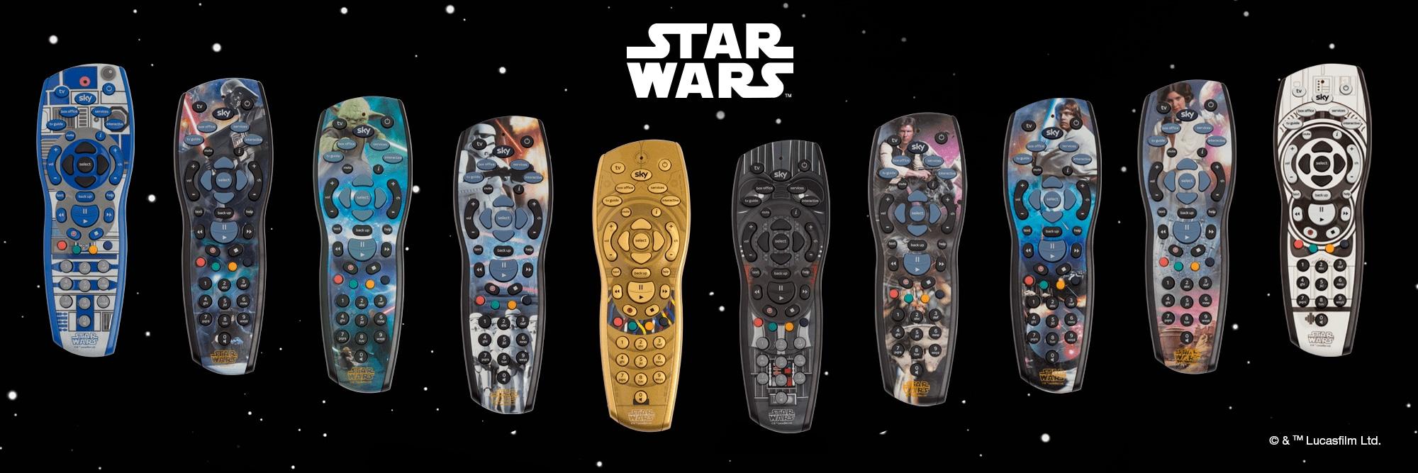 10 exclusive Star Wars™ Sky+HD remotes