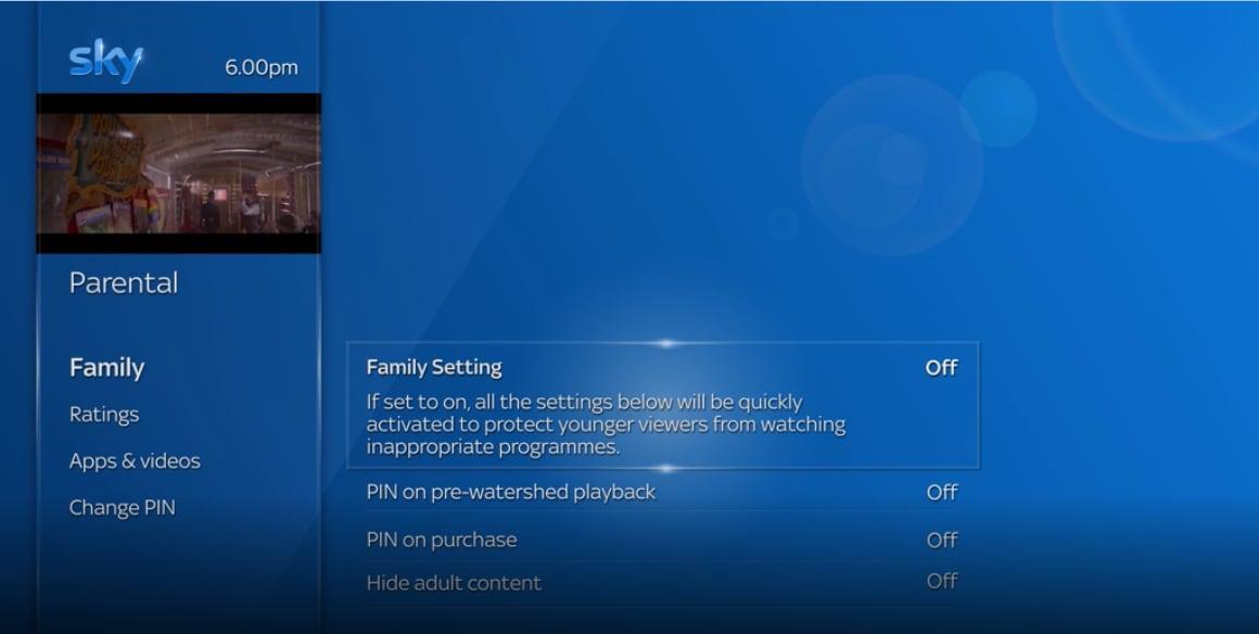 Managing parental settings | Sky Help | Sky com