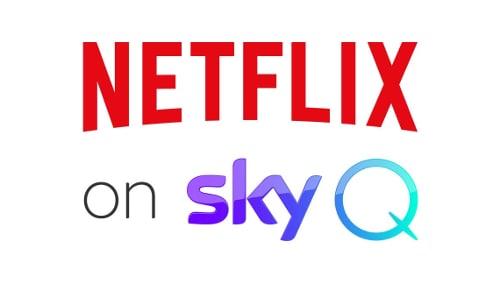 Netflix on Sky Q logo