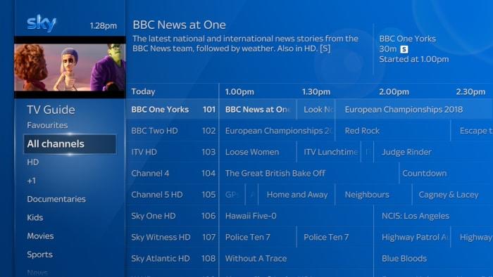 Using the TV Guide | Sky Help | Sky com