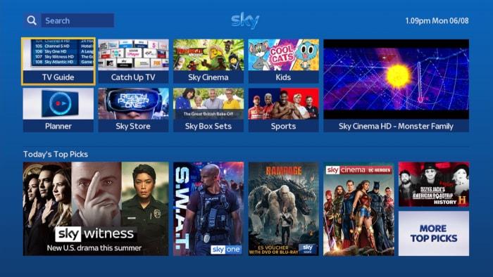 Using the sky tv guide | sky help | sky. Com.