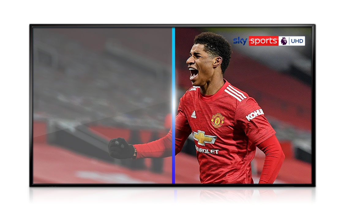 image showing UHD effect on football player