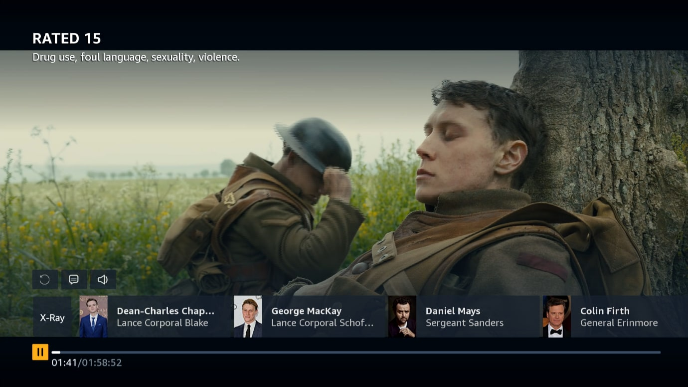 Image showing Prime Video play screen