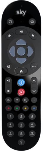 Image of the new Sky Q remote showing new microphone location