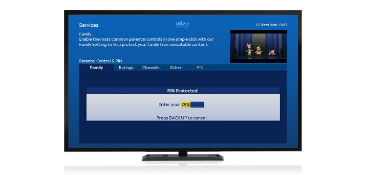 Set up parental controls on your TV | Sky Help | Sky com