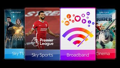 Sky TV, Cinema, Sports & Broadband