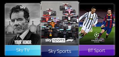 Sky TV, BT Sport & Sky Sports