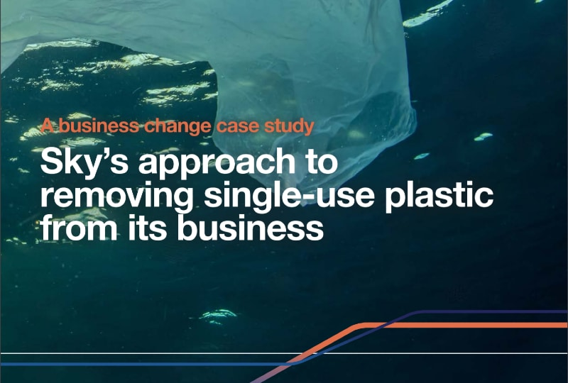 Sky's approach to removing single-use plastic from its business