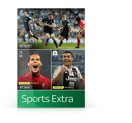 Introducing Sports Extra, which includes BT Sport and Premier Sports