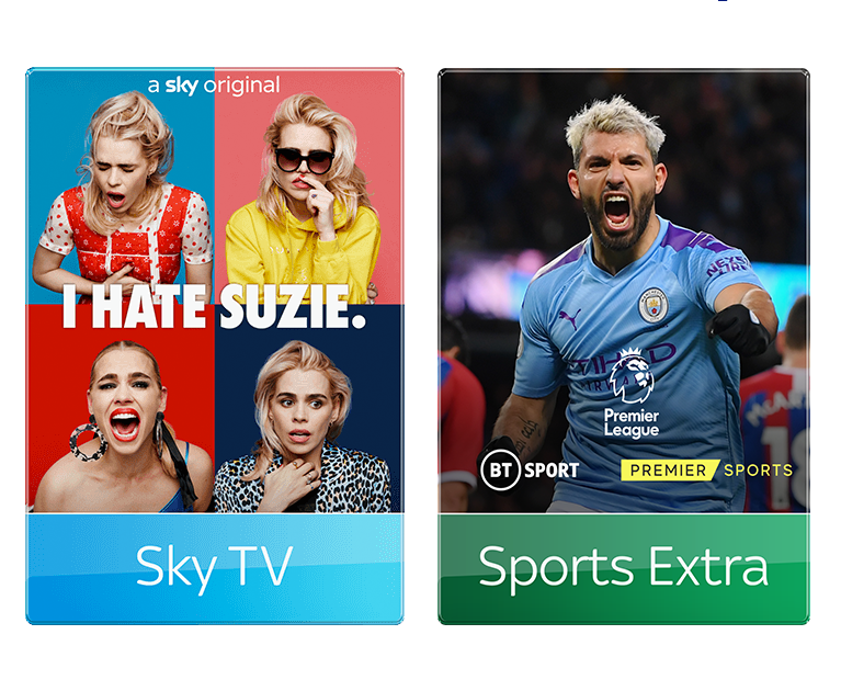Add Sky Sports and Sports Extra