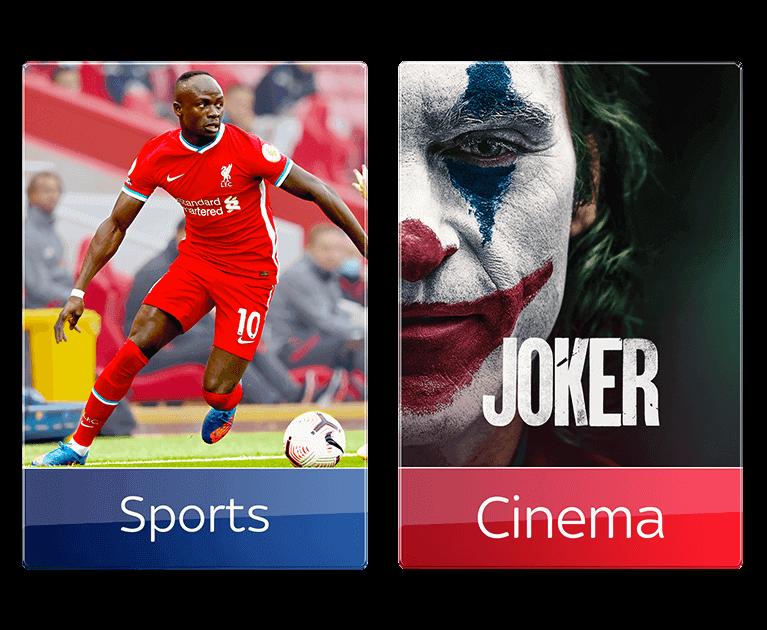 Add Sky Sports and Cinema
