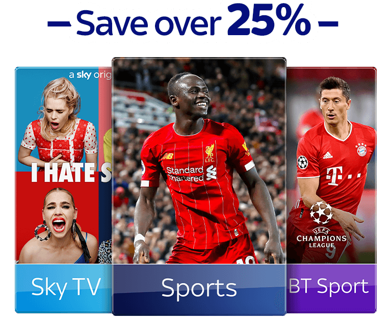 Join Sky TV with Sky Sports & BT Sport