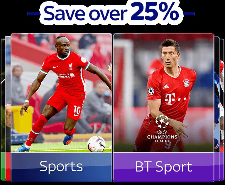 Add Sky Sports and BT Sport