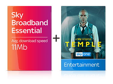 Sky Broadband Essential & Entertainment Package