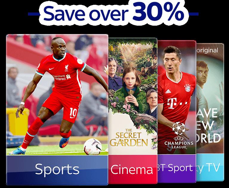 Join Sky TV with Sky Sports, Sky Cinema & BT Sport
