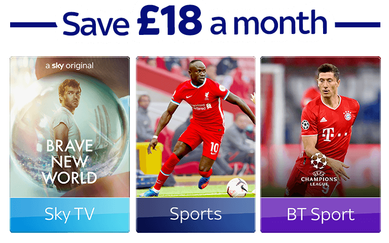 Join Sky TV with Sky Sports, & BT Sport